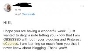Pinterest e-course to grow your blog traffic