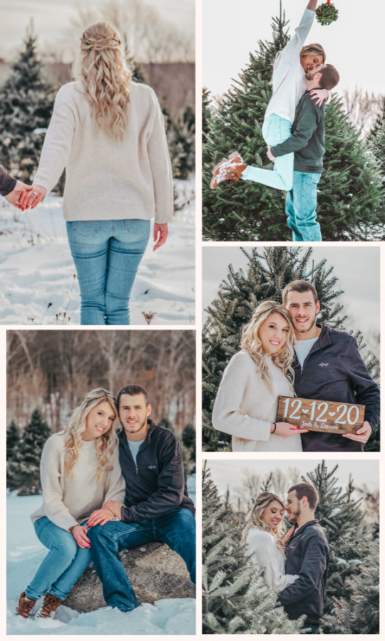 The best winter engagement photo ideas for couples.