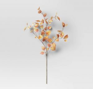 fall leaf vase filler from Target. Fall home decor finds.