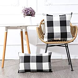 Buffalo checkered pillow covers from Amazon - Fall home decor finds on Amazon