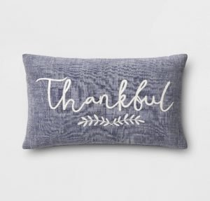 Thankful throw pillow from Target - Fall throw pillows