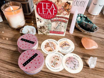 Tea leaf fortune cards - divination